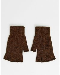 ASOS – Fingerlose Handschuhe - Braun