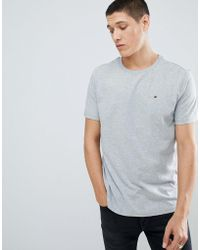 Tommy Hilfiger - Flag Icon T-shirt In Organic Cotton In Grey - Lyst