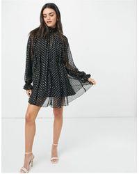 ASOS High Neck Mini Dress - Black