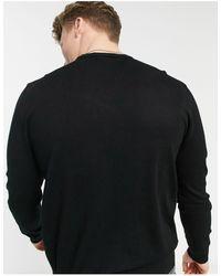 Emporio Armani - Черный Трикотажный Джемпер С Маленьким Логотипом -черный Цвет - Lyst