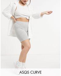 ASOS Asos Design Curve Cotton legging Short - Grey