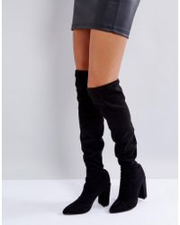 Missguided - Pointed Over The Knee Boot - Lyst