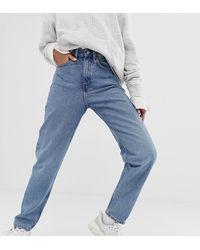 Weekday Lash - Oversized Mom Jeans Van Biologisch Katoen - Blauw
