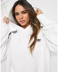 adidas Originals Белый Укороченный Худи Adicolor