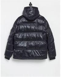 NEW Mens HOODED PUFFER Jacket by Brave Soul Biker Bomber GRADIENT PADDED COAT SI