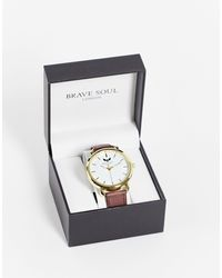 Brave Soul Mens Tan Strap Watch And Dial - Brown