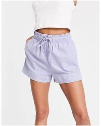 Mango Cotton Shorts - Blue