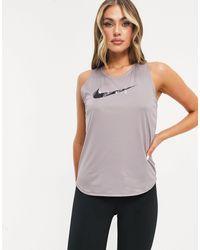 Nike - Фиолетовая Майка С Логотипом-галочкой -фиолетовый Цвет - Lyst