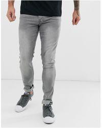 Lee Jeans Luke Slim Tapered Fit Jeans - Gray