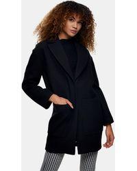 TOPSHOP Abrigo negro