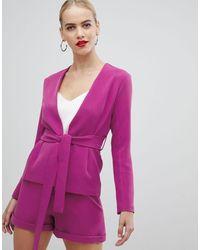 Vesper Розовый Блейзер С Завязкой