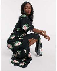 Miss Selfridge Angel Sleeve Maxi Dress - Black