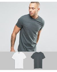ASOS - 2 Pack T-shirt With Crew Neck Save - Lyst