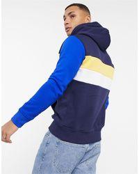 Polo Ralph Lauren - Темно-синий Флисовый Худи В Стиле Колор Блок Крупным Логотипом Sport Capsule - Lyst