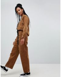 Carhartt WIP High Waist Relaxed Chinos In Corduroy - Brown