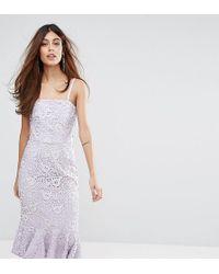 Warehouse - Strapless Premium Lace Dress - Lyst