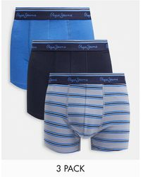 Pepe Jeans Theon 3 Pack Trunk - Blue