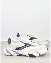 Calvin Klein Белые Кроссовки C Разноцветными Вставками Solaris-многоцветный - Синий