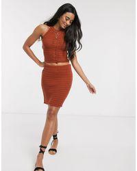 ASOS Co-ord Crochet Skirt-red