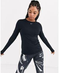 Nike Черный Лонгслив
