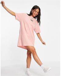 Vans Коралловое Платье-футболка Center V-розовый Цвет