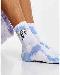 Skinnydip London Skinny Dip X Powerpuff Girls Bubbles Socks - Blue
