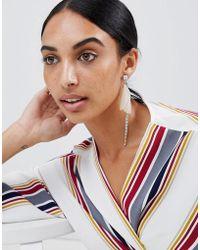 LoveRocks London - Delicate Petal Asymmetric Earrings - Lyst