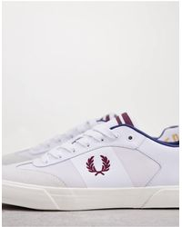 Fred Perry Белые Кожаные Кроссовки С Логотипом -белый