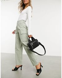 ASOS Pleat Front Chino With Cargo Pockets - Multicolor