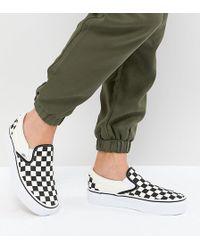 Vans - Platform Slip On Trainers In Checkerboard - Lyst