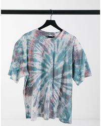 ASOS Oversized-футболка С Принтом Тай-дай - Синий