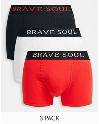 Brave Soul 3 Pack Boxers - Red