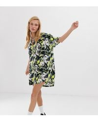 426af29bffa Urban Outfitters Uo Floral Revere Collar Shirt Dress - Womens Xs in ...