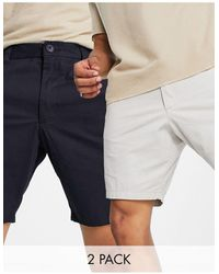 French Connection French Conneciton 2 Pack Chino Shorts - Multicolour