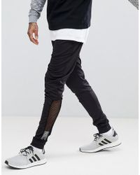 ASOS | Skinny Poly Tricot Jogger With Mesh Panel | Lyst