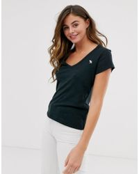 Abercrombie & Fitch V-neck Tee - Black