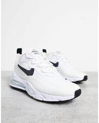 Nike - Кроссовки Белого И Черного Цветов Air Max 270 React-черный Цвет - Lyst