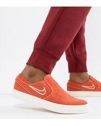 Nike - Janoski Slip On Trainers In Orange - Lyst