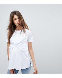 ASOS - Nursing Knot Front Nursing T-shirt - Lyst