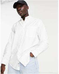 Pull&Bear Oxford Shirt - White
