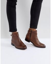 H by Hudson Jodhpur Leather Boot - Brown