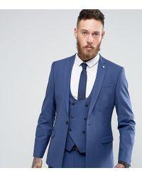 Noose And Monkey Super Skinny Suit Jacket - Blue
