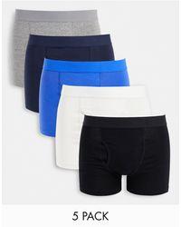 Weekday Johnny 5-pack Boxer Set - Blue