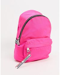 Tommy Hilfiger Розовый Рюкзак С Отделкой Кантом С Логотипом Tommy Jeans