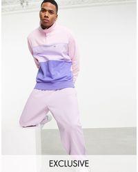 PUMA Джемпер С Пуговицами Фиолетового И Розового Цветов Downtown – Эксклюзивно Для Asos-многоцветный - Пурпурный