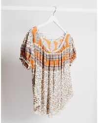 Free People Paisley Printed T-shirt - White
