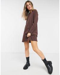 ASOS - Vestido marrón chocolate extragrande - Lyst