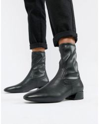 9bed79c5f33 Vagabond - Joyce Black Leather Pull On Pointed Boots - Lyst