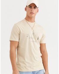 ASOS – T-Shirt mit City-Druck - Natur