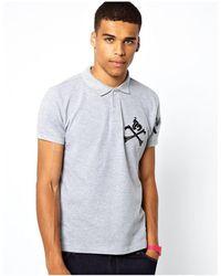 Money Polo Shirt Cross Bone Embroid Logo-grey - Multicolour